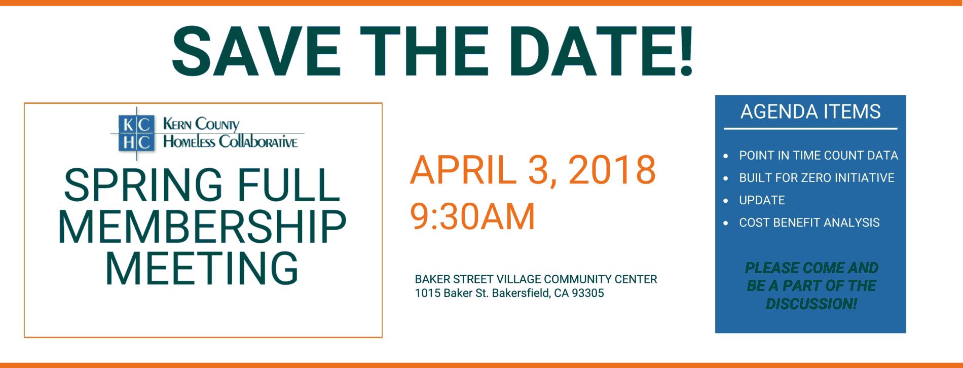 Save The Date Membership spring 2018